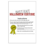 Instant Halloween Costume Large Poster