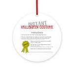 Instant Halloween Costume Ornament (Round)