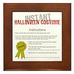 Instant Halloween Costume Framed Tile