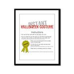 Instant Halloween Costume Framed Panel Print