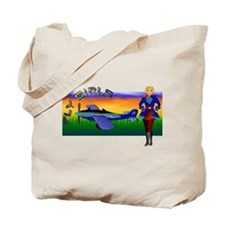 Woman Aviator Tote Bag
