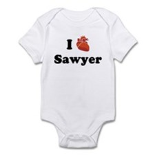 I (Heart) Sawyer Infant Bodysuit