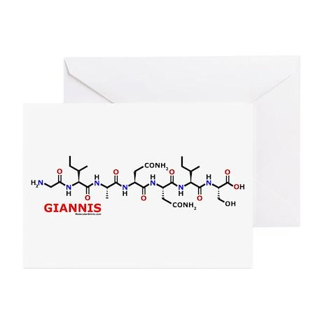 Giannis name molecule Greeting Cards (Pk of 20)