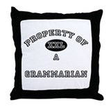 Property of a Grammarian Throw Pillow