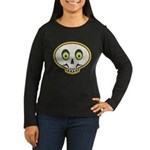 Skull Halloween Women's Long Sleeve Dark T-Shirt
