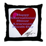 Shiner Awareness Throw Pillow