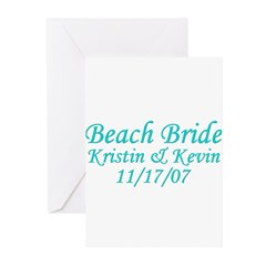 CUSTOM - Beach Bride Greeting Cards (Pk of 20)