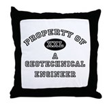 Property of a Geotechnical Engineer Throw Pillow