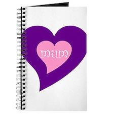 Hearts design MUM Journal