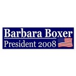 President Barbara Boxer (bumper sticker)