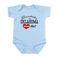 Somebody in Oklahoma Loves Me Infant Bodysuit