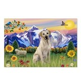 Yellow Lab in Mt. Country Postcards (Package of 8)