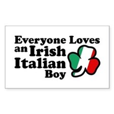 Everyone Loves an Irish Italian Boy Decal
