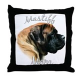 Mastiff(apricot)Mom2 Throw Pillow