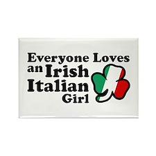Everyone Loves an Irish Italian Girl Rectangle Mag
