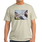 Creation & Yellow Labrador Ash Grey T-Shirt