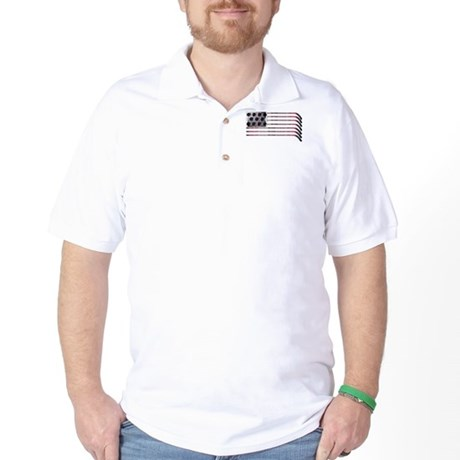 US Hockey Flag Golf Shirt