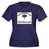 Property of a Footballer Women's Plus Size V-Neck
