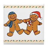 Interfaith Gingerbread Cookie Tile Coaster