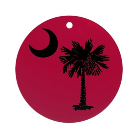 Black and Garnet South Carolina Flag Ornament (Rou