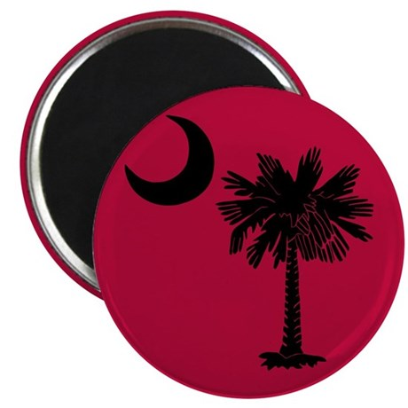 Black and Garnet South Carolina Flag 2.25