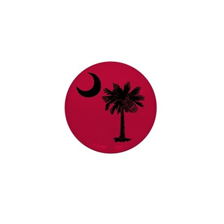 Black and Garnet South Carolina Flag Mini Button (