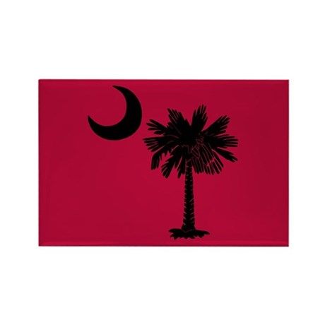 Black and Garnet South Carolina Flag Rectangle Mag
