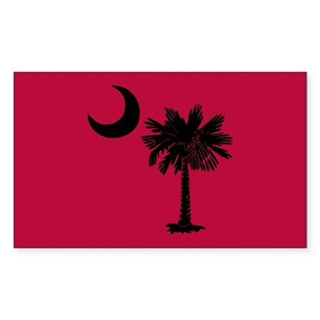 Black and Garnet South Carolina Flag Sticker (Rect