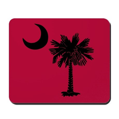 Black and Garnet South Carolina Flag Mousepad