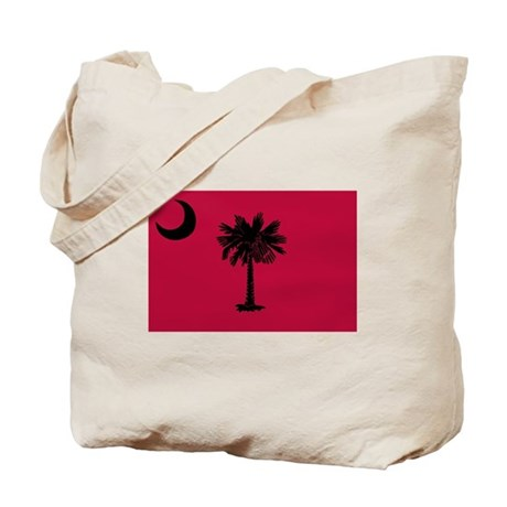 Black and Garnet South Carolina Flag Tote Bag