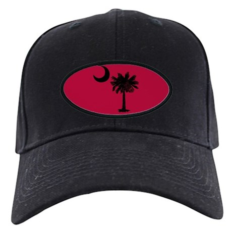 Black and Garnet South Carolina Flag Black Cap