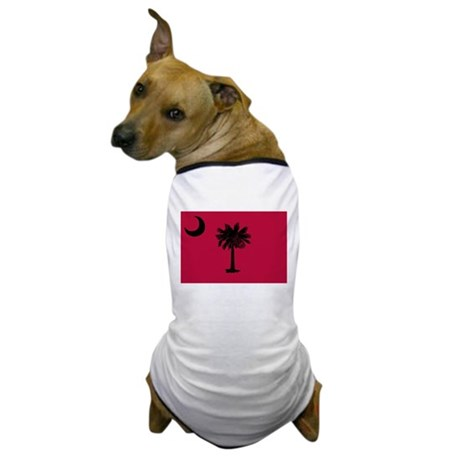 Black and Garnet South Carolina Flag Dog T-Shirt