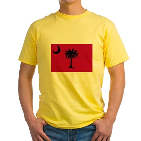Black and Garnet South Carolina Flag Yellow T-Shir