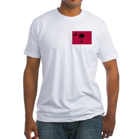 Black and Garnet South Carolina Flag Fitted T-Shir