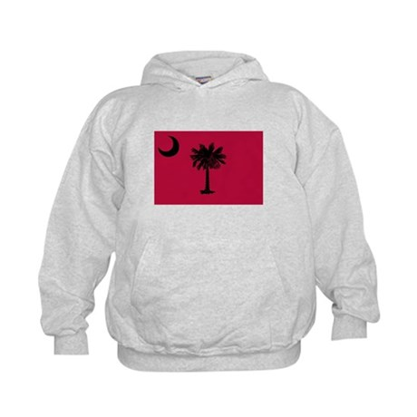 Black and Garnet South Carolina Flag Kids Hoodie