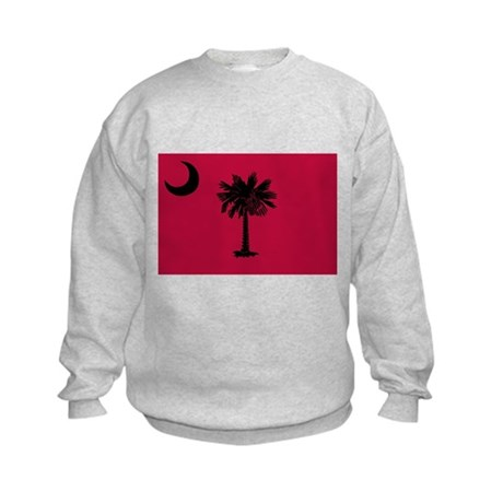 Black and Garnet South Carolina Flag Kids Sweatshi