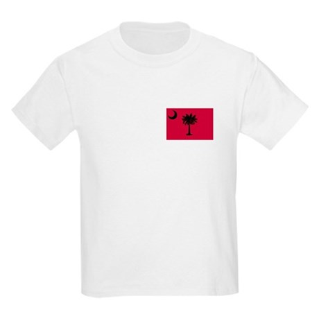 Black and Garnet South Carolina Flag Kids Light T-