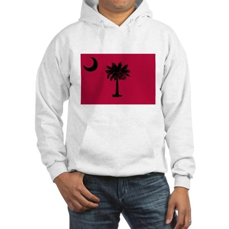 Black and Garnet South Carolina Flag Hooded Sweats