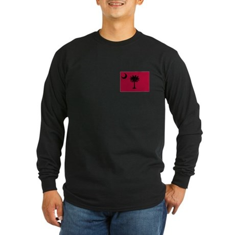 Black and Garnet South Carolina Flag Long Sleeve D