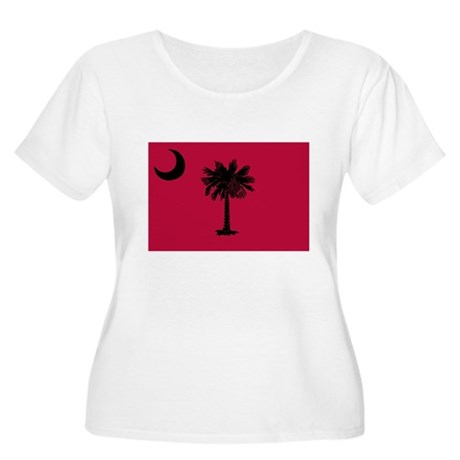 Black and Garnet South Carolina Flag Women's Plus