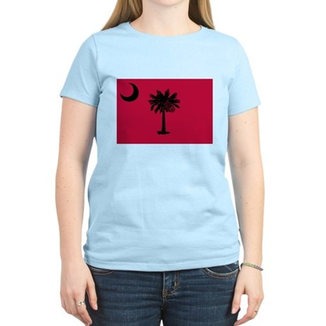Black and Garnet South Carolina Flag Women's Light