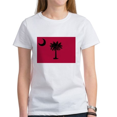 Black and Garnet South Carolina Flag Women's T-Shi