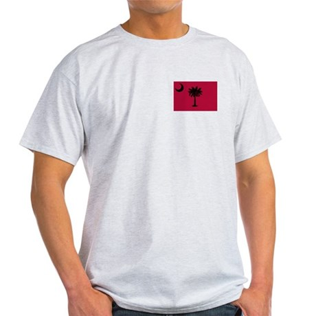 Black and Garnet South Carolina Flag Light T-Shirt