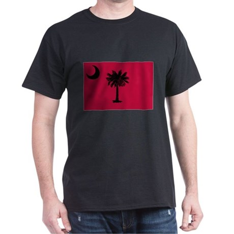 Black and Garnet South Carolina Flag Dark T-Shirt