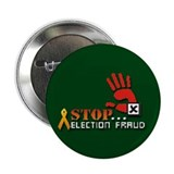 "Red Hand Stop Election Fraud 2.25""Button 100 pack"