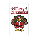 Christmas Turkey Rectangle Decal
