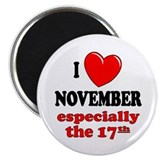 November 17th 2.25&quot; Magnet (100 pack)