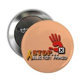 "Red Hand Stop Election Fraud 2.25"" Button 10 pack"