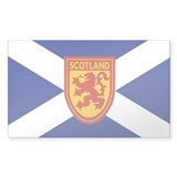 St. Andrew's Cross Rampant Lion Decal