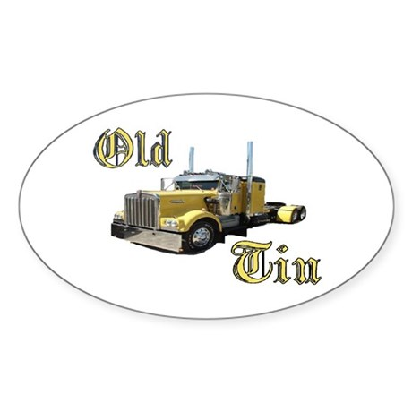 Old Tin Oval Sticker